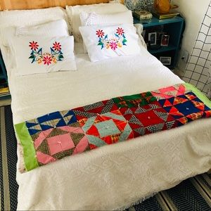 Vintage 80s Patchwork Quilt/Blanket Throw Handmade